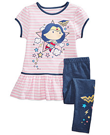 DC Comics® Wonder Woman 2-Pc. Tunic & Leggings Set, Little Girls