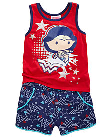 DC Comics® Wonder Woman 2-Pc. Tank Top & Shorts Set, Little Girls