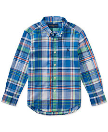 Polo Ralph Lauren Plaid Cotton Shirt, Little Boys