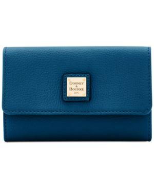 Image of Dooney & Bourke Belvedere Flap Pebble Leather Wallet