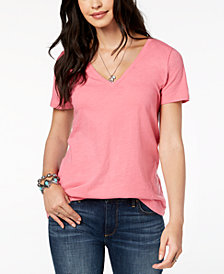 Lucky Brand Cotton Splice-Back Graphic T-Shirt