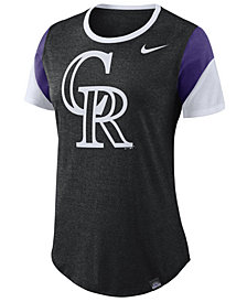 Nike Women's Colorado Rockies Tri-Blend Crew T-Shirt