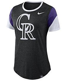 Nike Women's Colorado Rockies Tri-Blend Crew T-Shirt
