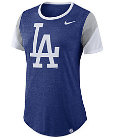 Nike Women's Los Angeles Dodgers Tri-Blend Crew T-Shirt