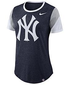 Nike Women's New York Yankees Tri-Blend Crew T-Shirt