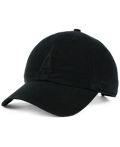 '47 Brand Los Angeles Angels Black on Black CLEAN UP Cap