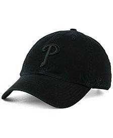'47 Brand Philadelphia Phillies Black on Black CLEAN UP Cap