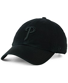 '47 Brand Philadelphia Phillies Black on Black CLEAN UP Cap