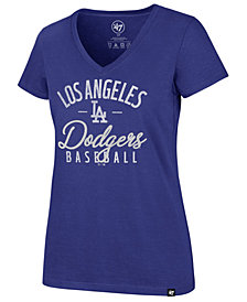 '47 Brand Women's Los Angeles Dodgers Ultra Rival Metallic Script T-Shirt