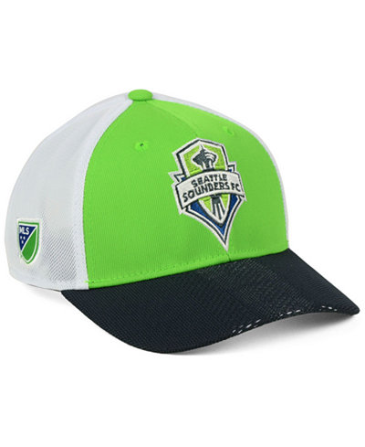adidas Seattle Sounders FC Authentic Mesh Adjustable Cap