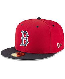New Era Boys' Boston Red Sox Batting Practice Prolight 59FIFTY FITTED Cap