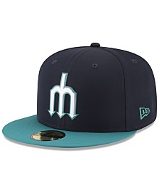 New Era Boys' Seattle Mariners Batting Practice Prolight 59FIFTY FITTED Cap