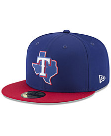 New Era Boys' Texas Rangers Batting Practice Prolight 59FIFTY FITTED Cap