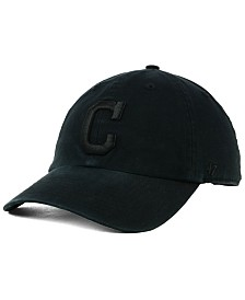 '47 Brand Cleveland Indians Black on Black CLEAN UP Cap