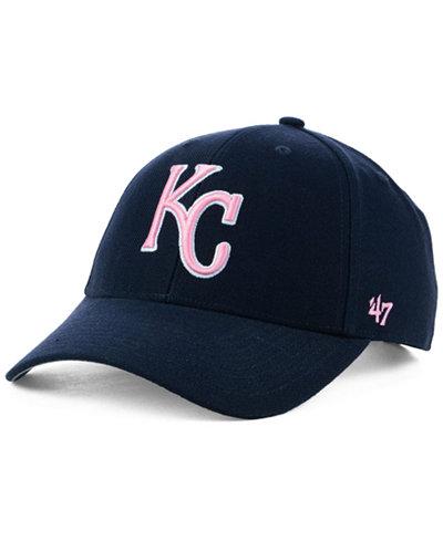 '47 Brand Kansas City Royals Navy Pink MVP Cap
