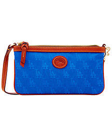 Dooney & Bourke Los Angeles Dodgers Embossed Nylon Large Wristlet