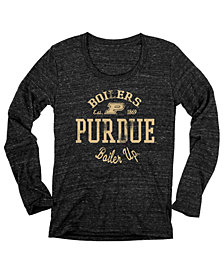 Blue 84 Women's Purdue Boilermakers Boiler Up Tri-Blend Long Sleeve T-Shirt