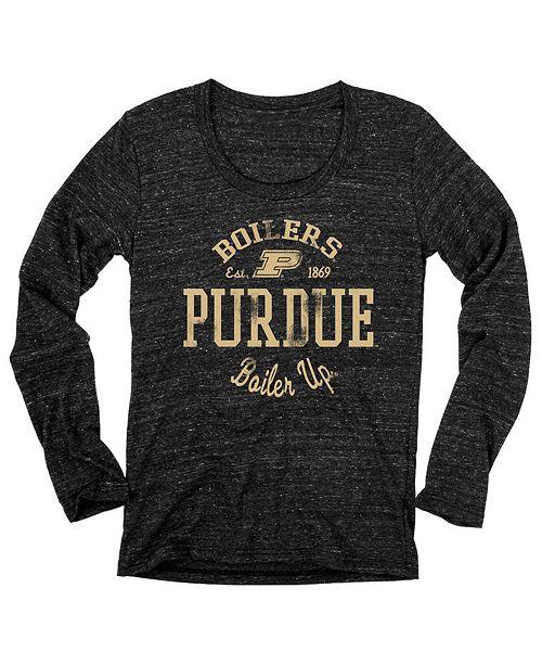 df74df7c Blue 84 Women's Purdue Boilermakers Boiler Up Tri-Blend Long Sleeve T-Shirt