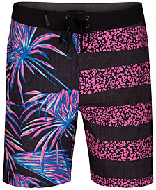 "Hurley Men's Phantom Tiger Floral 18"" Board Shorts"
