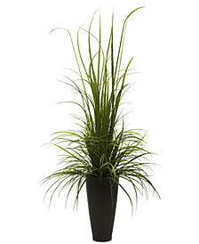 "Nearly Natural 64"" River Grass Indoor/Outdoor Plant with Planter"