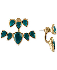 RACHEL Rachel Roy Gold-Tone Colored Stone Jacket Earrings