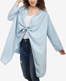Lucky Brand Tie-Front Kimono