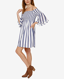 Lucky Brand Cotton Off-The-Shoulder Dress