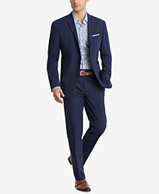 Bar III Men's Slim-Fit Active Stretch Navy Stripe Seersucker Suit Separates, Created for Macy's