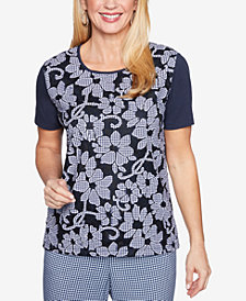 Alfred Dunner Perfect Match Lace T-Shirt