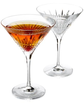 Barware, Lismore Diamond Martini Glasses, Set of 2