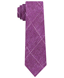 Michael Kors Men's Contrast Chalk Grid Slim Silk Tie