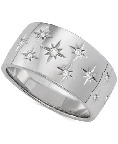 Marchesa Diamond Star Wedding Band 1 6 Ct T W In 18k White