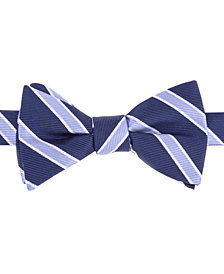 Tommy Hilfiger Men's Bedford Stripe To-Tie Silk Bow Tie