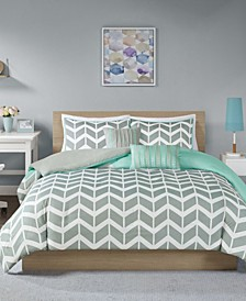 Nadia 5-Pc. Full/Queen Duvet Cover Set