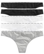 778fb16fa0f7 Calvin Klein Plus Size Signature Cotton Logo Thong 5-Pk. QF5120