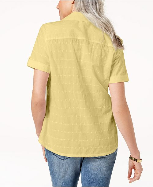 Cotton for Scott Sugar Lemon Embroidered Macy's Karen Shirt Created Petite xCpEwEqB4