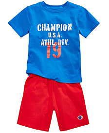 Champion 2-Pc. Cotton T-Shirt & Shorts Set, Little Boys