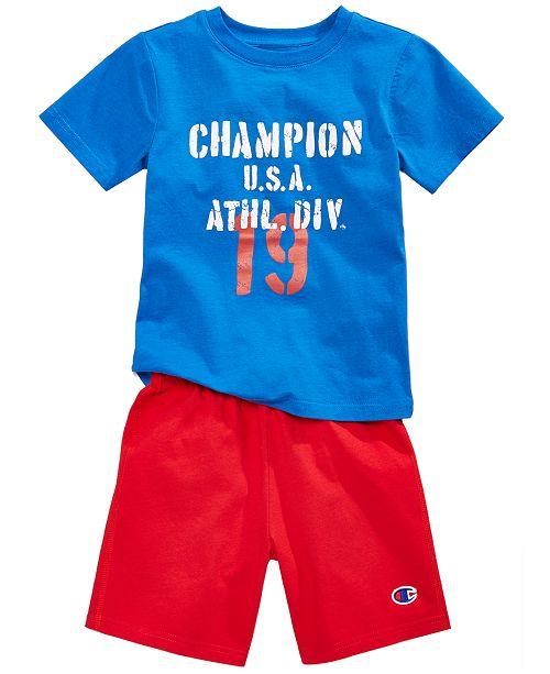 905fbf9f8dd Champion 2-Pc. Cotton T-Shirt   Shorts Set