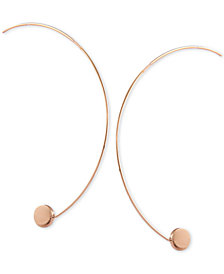 GUESS C-Shape Hoop Threader Earrings