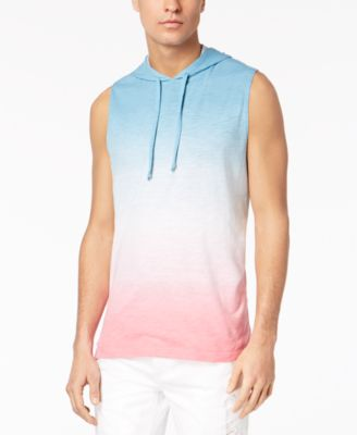 Men's Sleeveless Tie Dye Hoodie, Created for Macy's