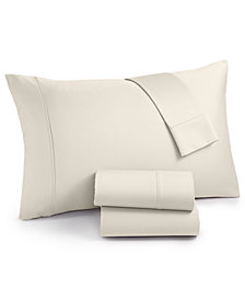 AQ Textiles Surrey Cotton 650 Thread Count 4-pc. Extra Deep Queen Sheet Set