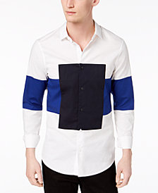 A|X Armani Exchange Men's Slim-Fit Colorblocked Shirt