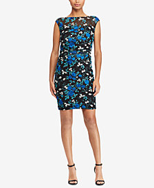 Lauren Ralph Lauren Petite Floral-Embroidered Mesh Dress