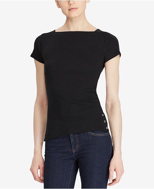 Lauren Ralph Lauren Ribbed Cotton T-Shirt