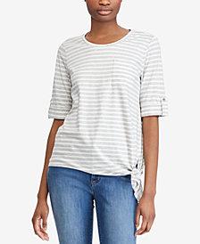 Lauren Ralph Lauren Striped Knot T-Shirt