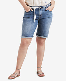 Levi's® Plus Size Lost Blues Cotton Denim Bermuda Shorts