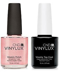 Creative Nail Design Vinylux Grapefruit Sparkle Nail Polish & Top Coat (Two Items), 0.5-oz., from PUREBEAUTY Salon & Spa