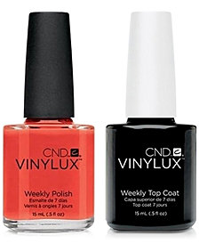 Creative Nail Design Vinylux Electric Orange Nail Polish & Top Coat (Two Items), 0.5-oz., from PUREBEAUTY Salon & Spa