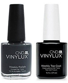 Creative Nail Design Vinylux Asphalt Nail Polish & Top Coat (Two Items), 0.5-oz., from PUREBEAUTY Salon & Spa
