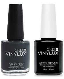 Creative Nail Design Vinylux Asphalt Nail Polish & Top Coat (Two Items), 0.5-oz., from PUREBEAUTY Salon & Spa